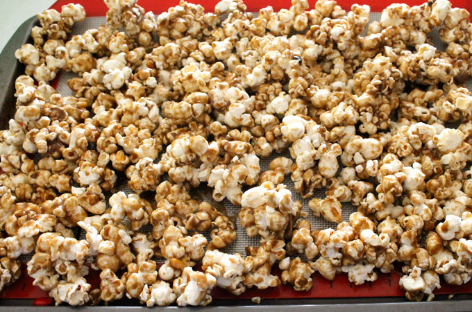 Mix until popcorn is covered with Caramel mixture