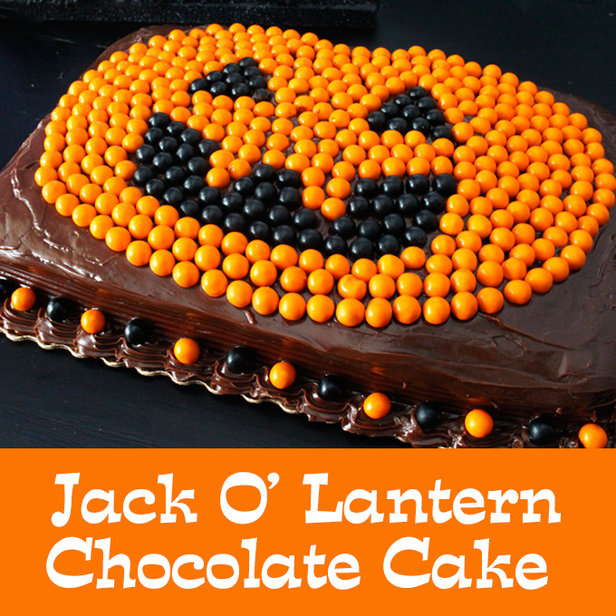 Easy Jack O Lantern Chocolate Cake Two Sisters Crafting