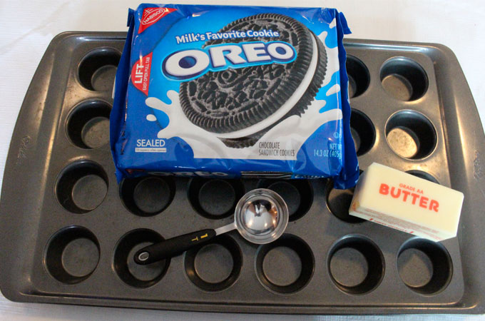 Ingredients for Oreo Cookie Cups