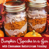 Pumpkin Cupcake in a Jar