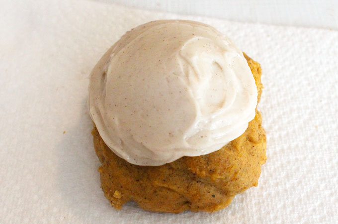 Pumpkin Spice Cookie with Cream Cheese Frosting