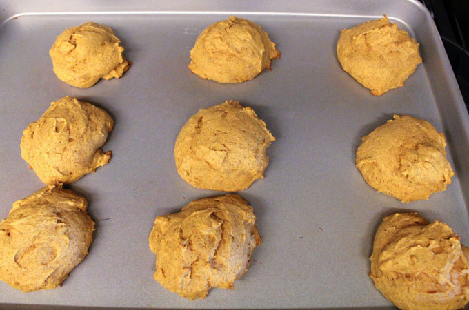 Pumpkin Spice Cookies just out of the oven