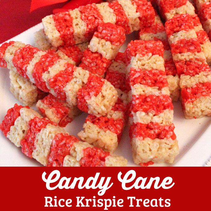 Candy Cane Rice Krispie Treats - Two Sisters Crafting