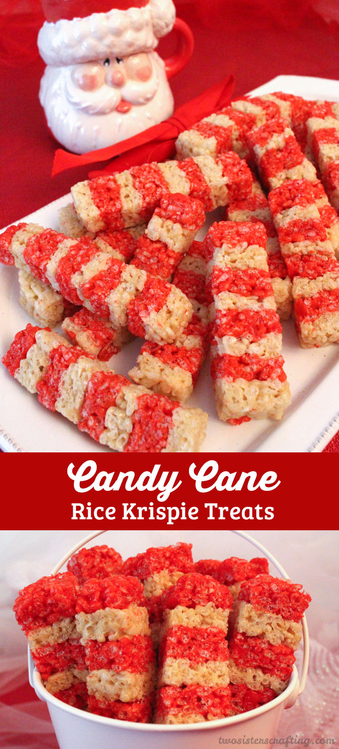 Our colorful and festive Candy Cane Rice Krispie Treats are adorable ...