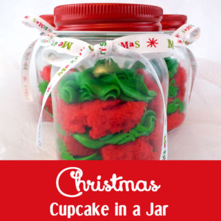 Christmas Cupcake in a Jar