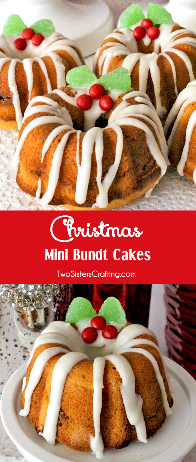 Christmas Mini Bundt Cakes Two Sisters