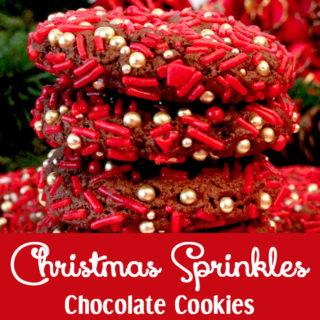 Christmas Sprinkles Chocolate Cookies