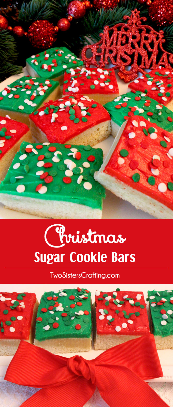How to make christmas sugar cookies - A Unique Take On A Frosted Sugar Cookie These Christmas Sugar Cookie Bars Are Delicious More Fun Christmas Recipes