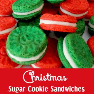 Christmas Sugar Cookie Sandwiches