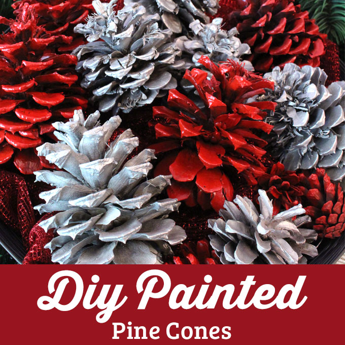 Diy Painted Pine Cones Two Sisters Crafting