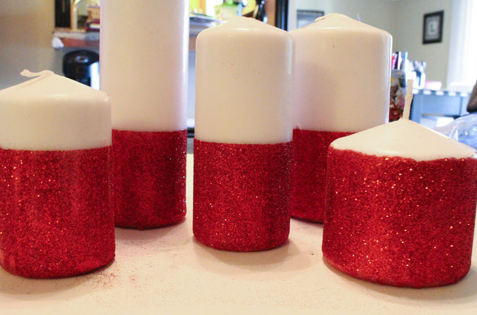 Glitter Candles - Easy DIY Christmas Decorations - Two Sisters ...