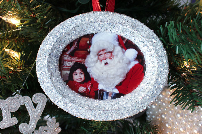 Glitter Photo Christmas Tree Ornaments Two Sisters