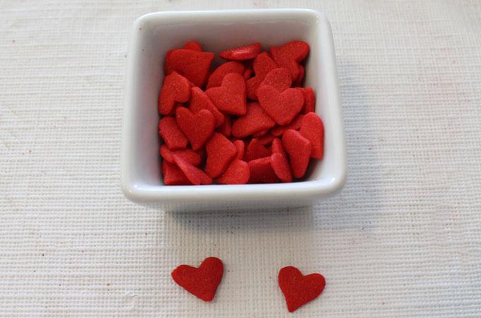 Confetti Hearts for the Grinch Pretzel Bites
