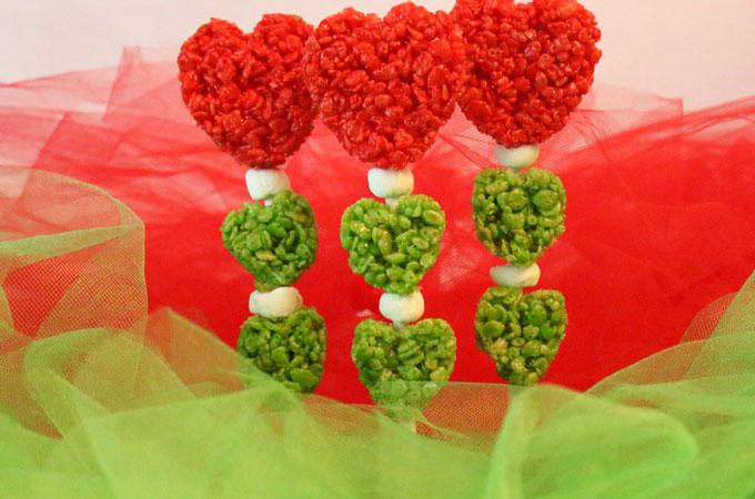 Grinch Hearts Rice Krispie Treats Two Sisters