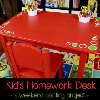 DIY Kid's Homework Desk – Ikea Hack