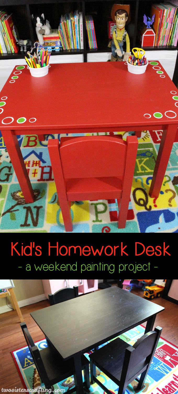 Diy Kid S Homework Desk Ikea Hack Two Sisters