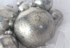 Mercury Glass Christmas Tree Ornaments