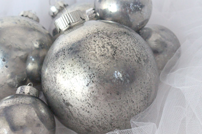these diy mercury glass christmas tree ornaments are a fun craft that results in wonderfully unique - Mercury Glass Christmas Decorations