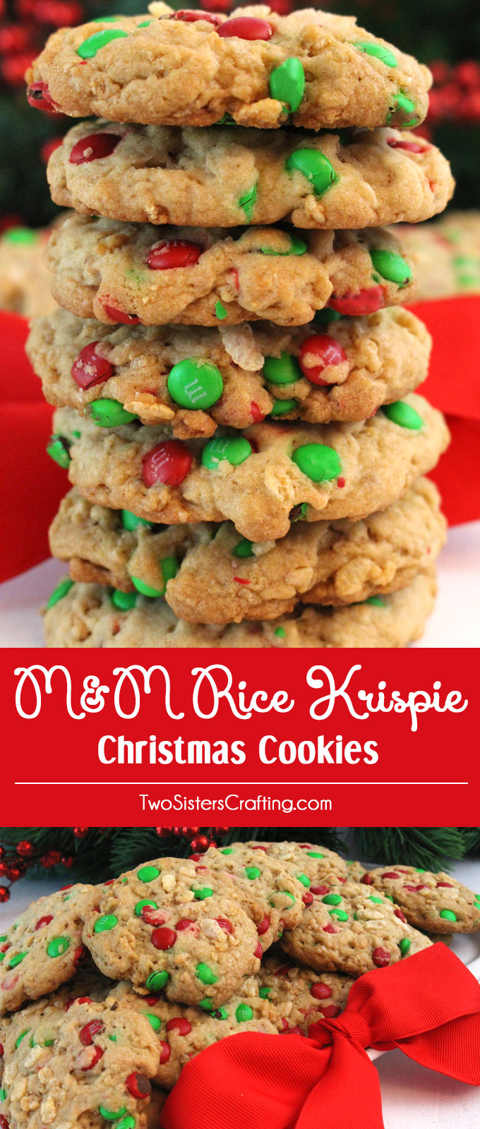 M M Rice Krispie Christmas Cookies