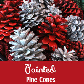 DIY Painted Pine Cones