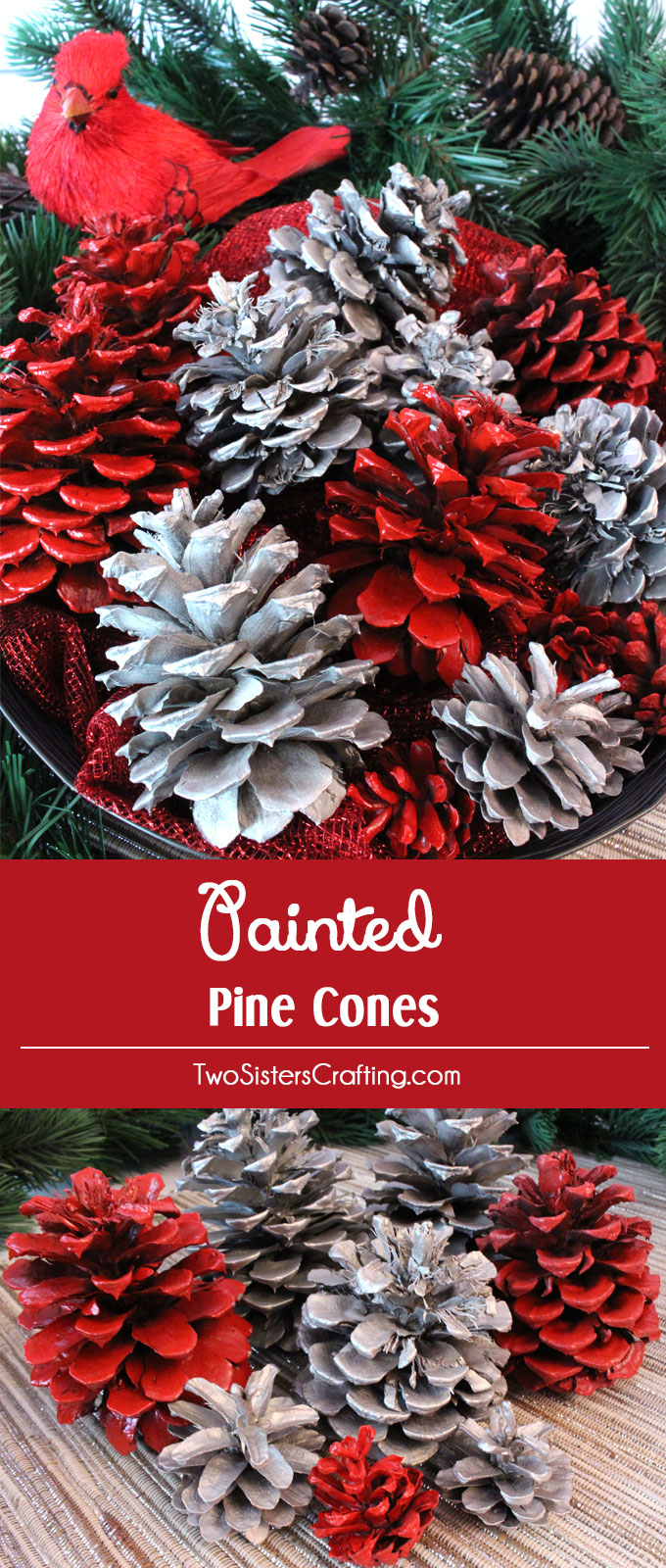 What Kind Of Christmas Decorations Are Used In Spain : Diy painted pine cones two sisters crafting