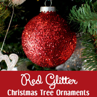 Red Glitter Christmas Tree Ornaments