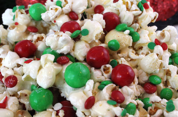 santa crunch popcorn a fun christmas treat sweet salty crunchy and delicious - Christmas Candy Corn