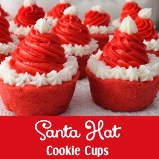 Santa Hat Cookie Cups