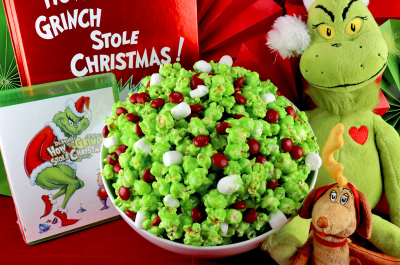 Grinch Popcorn Two Sisters