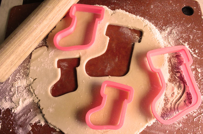 Cookie Cutters with Peanut Butter Cookie Dough