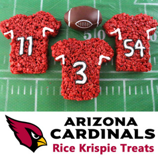 Arizona Cardinals Rice Krispie Treats