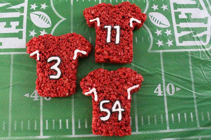 These Arizona Cardinals Rice Krispie Treats Team Jerseys are a fun football  dessert for a game c022a4e73957