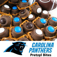 Carolina Panthers Pretzel Bites