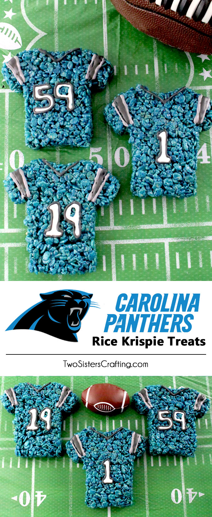 Carolina Panthers Rice Krispie Treats - Two Sisters