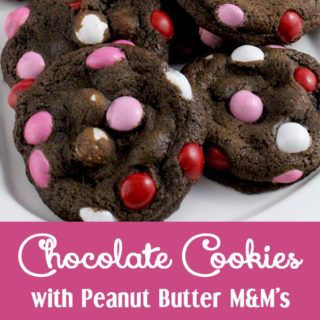 Chocolate Cookies with Peanut Butter M&M's