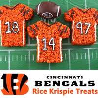 Cincinnati Bengals Rice Krispie Treats
