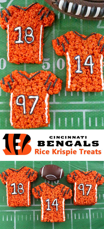 Cincinnati Bengals Rice Krispie Treats - Two Sisters Crafting