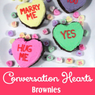 Conversation Hearts Brownies