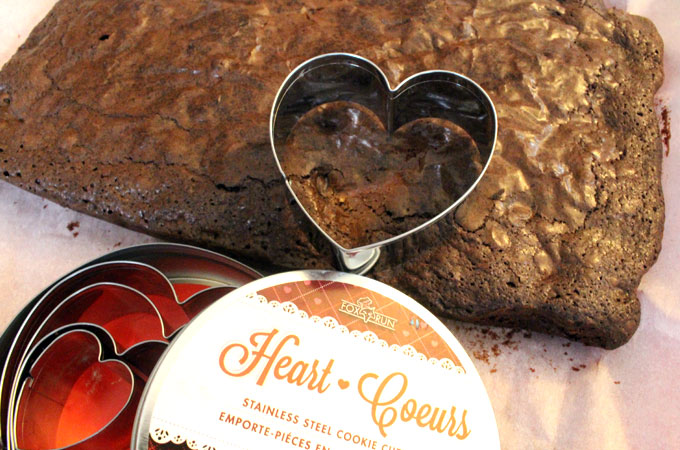 Brownies and a Heart Cookie Cutter