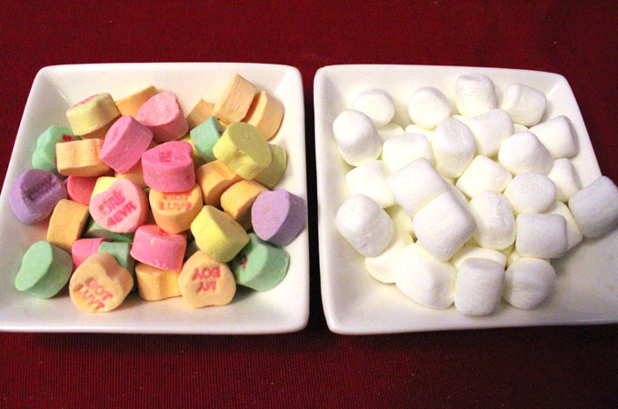 Candy for the Conversation Hearts Popcorn