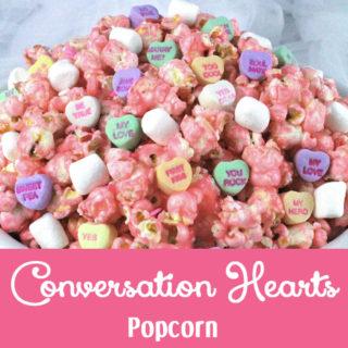 Conversation Hearts Popcorn
