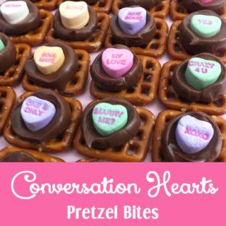 Conversation Hearts Pretzel Bites