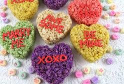 Conversation Hearts Rice Krispie Treats