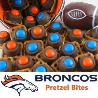Denver Broncos Pretzel Bites