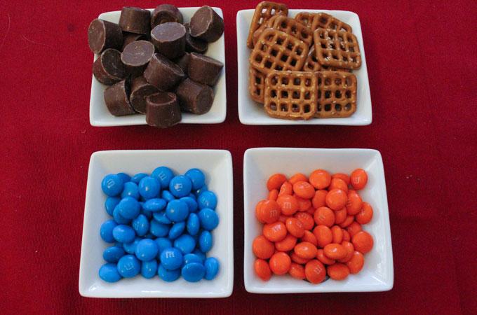 Ingredients for Denver Broncos Pretzel Bites