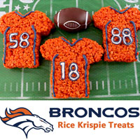 Denver Broncos Rice Krispie Treats