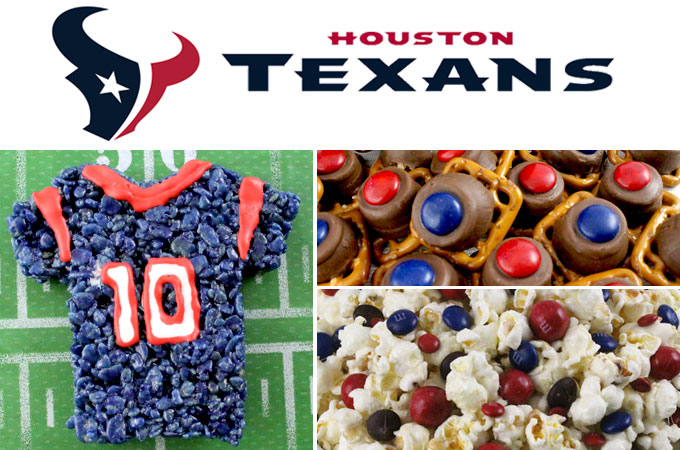 If you are a Houston Texans fan and it is Game Day, you'll want to make one (or all) of our Houston Texans Game Day Treats for your football watching family members. These are fun Red and Blue football desserts that are perfect for a game day football party, an NFL playoff party or (hopefully!!!) a Super Bowl party. Follow us for more fun Super Bowl Food Ideas.