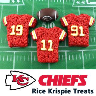 Kansas City Chiefs Rice Krispie Treats