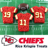 Kansas City Chiefs Rice Krispie Treats