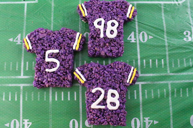 Minnesota Vikings Rice Krispie Treats